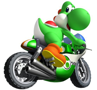 Yoshi en moto