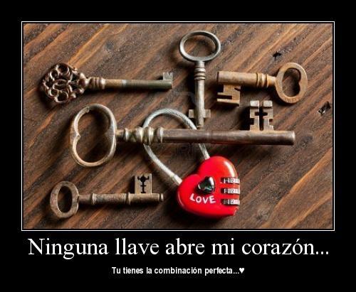 las llaves de mi corazon