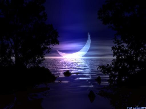 luna sonreia