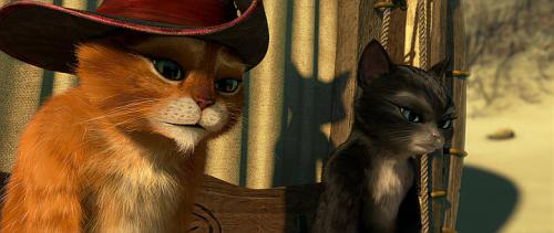Gato con botas y Kitty