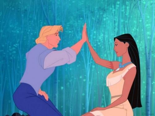 Pocahontas y el capitan Smith