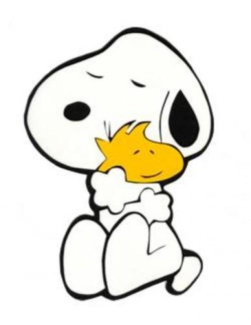 Abrazo de Snoopy y emilio