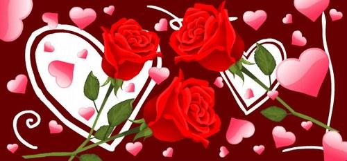 Rosas-corazones