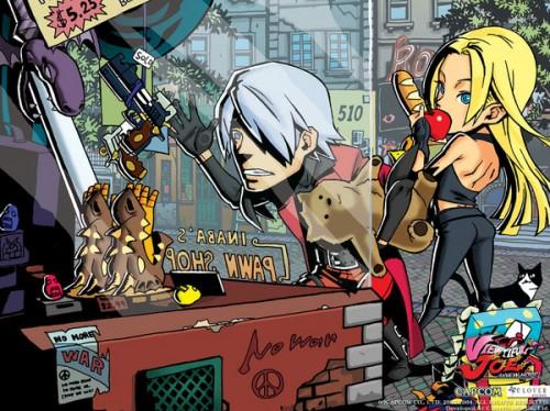 caricatura Dante y Trish