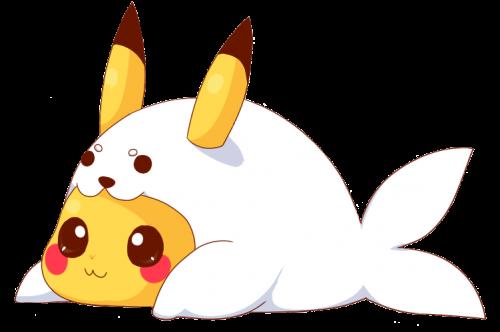 pikachu disfrazado de foca