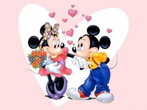 imagenes tiernas de Mickey y Minnie