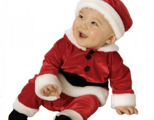 Bebes disfrazados de Santa Claus
