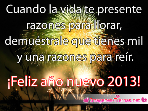 mensaje de feliz año nuevo 2013