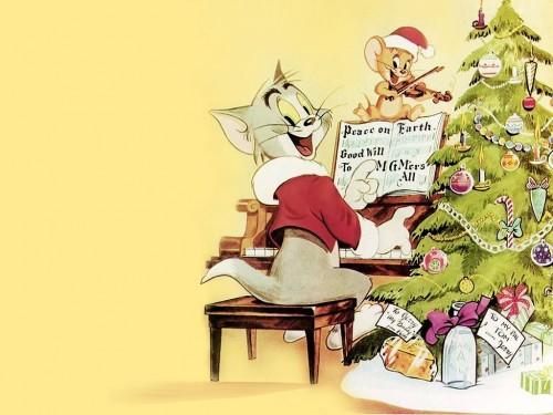 imagenes navidenas de Tom y Jerry