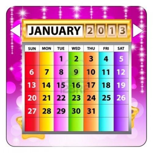 calendario enero 2013
