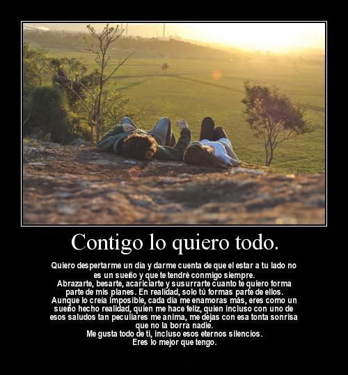 contigo todo lo quiero