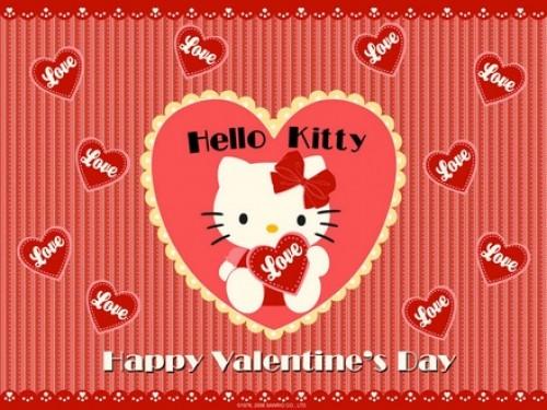 Imagenes de Hello Kitty para el día de San Valentin
