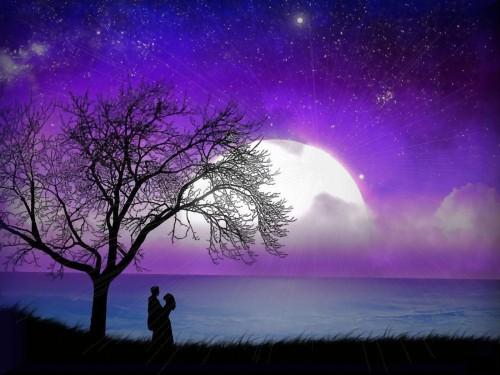 paisajes romanticos nocturnos