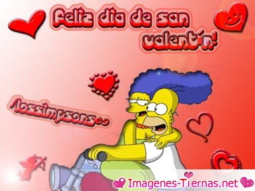 imágenes de Los Simpson para el dia de los enamorados