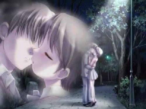 Imágenes Romanticas de Besos Anime