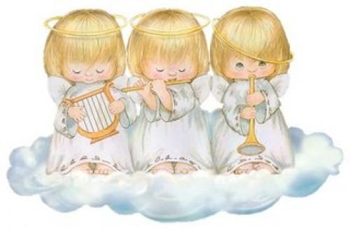 angelitos para bautismo