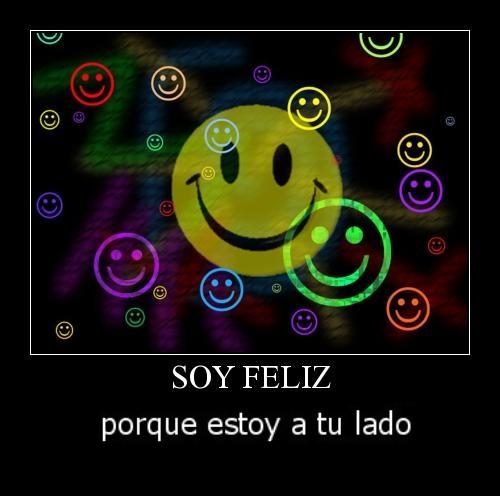 Soy feliz porque