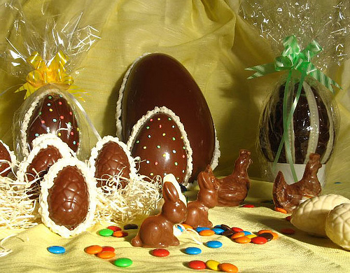 Huevos de Pascua de chocolate
