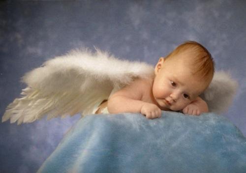 bebes disfrazados de angelitos