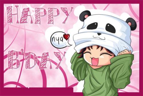 Tarjeta Feliz Cumpleaños Anime