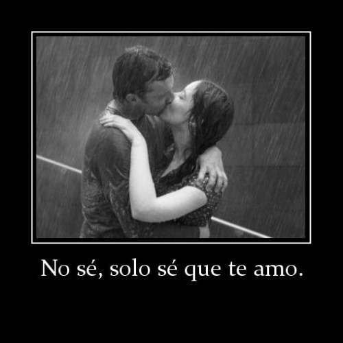 solo se que te amo