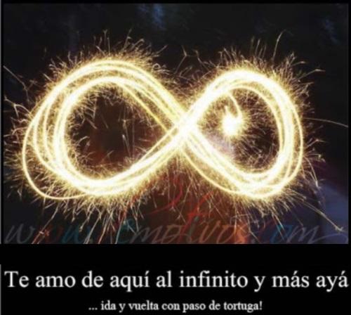 te amo de aqui al infinito