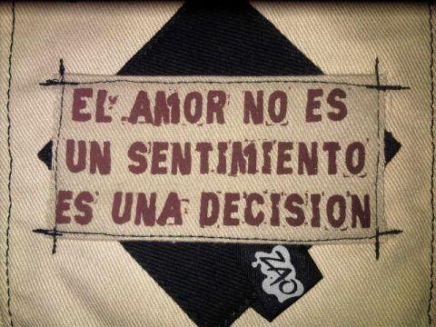 El amor no es un sentimiento es una desición