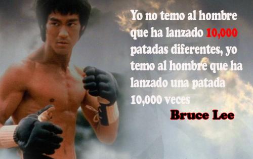 Imágenes con frases de Bruce Lee
