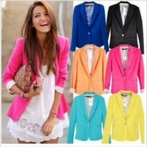 2013-Tops-Fashion-Womens-Suit-Tunic-Foldable-sleeve-candy-Color-lined-striped-Blazer-Jacket-shawl-cardigan1-300x300